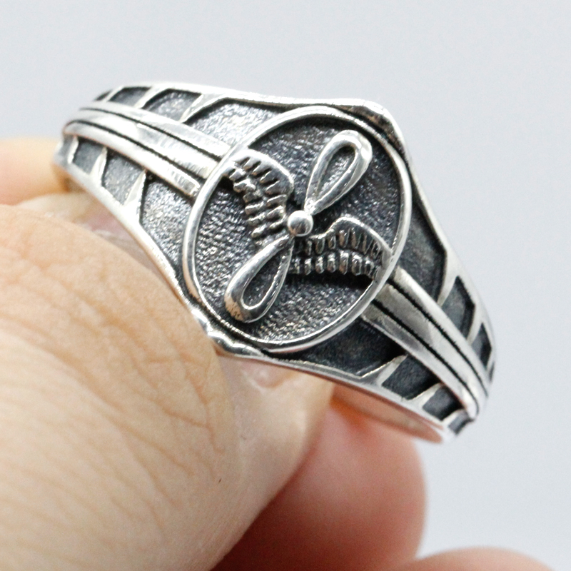 925 Sterling Silver Vintage Punk Freedom Eagle Biker Ring for Women Men Freedom Symbol Accessories Friends Party Jewelry in Rings from Jewelry Accessories