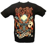 Personalized T Shirt Custom T Shirt AC DC Rock N Roll Australian Hard Rock Band T