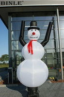 Lovely outdoor christmas inflatable decoration snowman air dancer for events