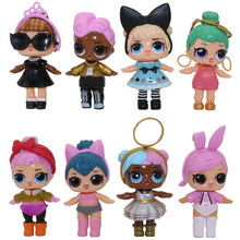 8Pcs/lot LoL Doll Unpacking High-quality Dolls lol Baby Tear Open Color Change Egg LoL Bebek Doll Action Figure Toys Girl Gift