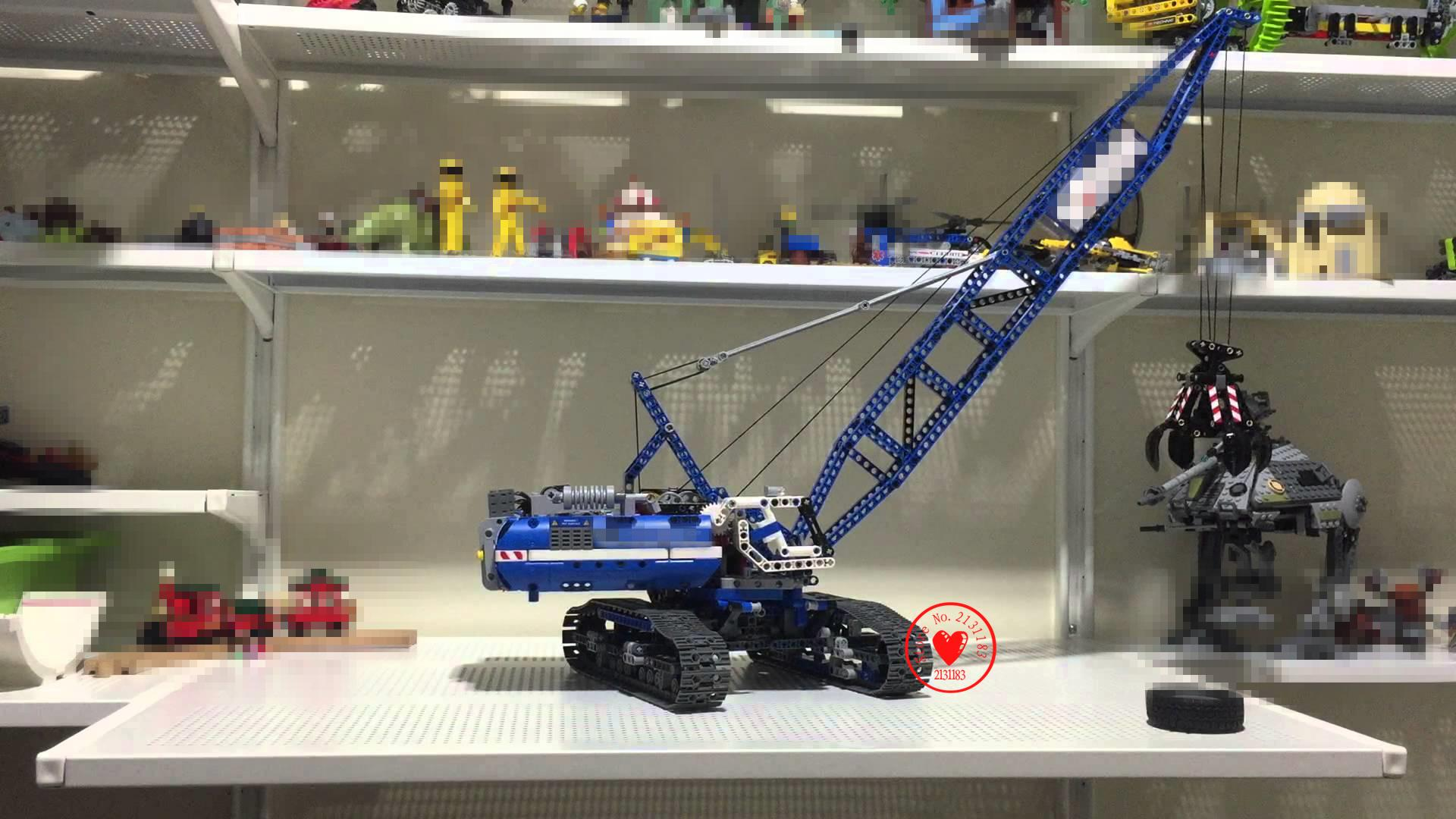 LEPIN 20010 Technic Series Crawler Crane Model Kits Educational Building Blocks Bricks Toys Gifts Children 42042 christmas gift lepin 02012 774pcs city series deepwater exploration vessel children educational building blocks bricks toys model gift 60095