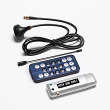 New 1 pc USB 2.0 DVB-T Digital TV Receiver HDTV Tuner Dongle Stick Antenna IR Remote