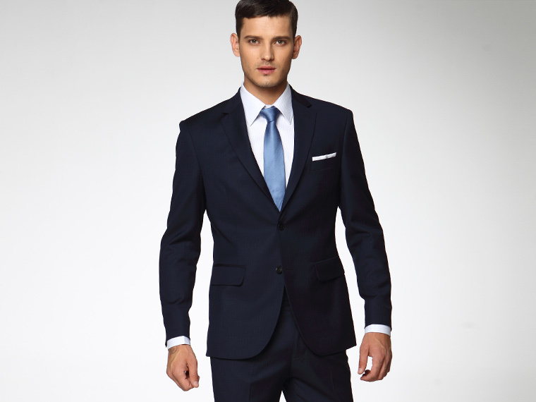 Navy Blue Men Wedding Suits Slim Fit Tailored Suit Brand 2015 ...
