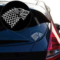 2PCS Starks Banner From the Game of Throne Decal Sticker for Car Window,Laptop,Motorcycle, Walls, Mirror and More.6'' WhiteBlack
