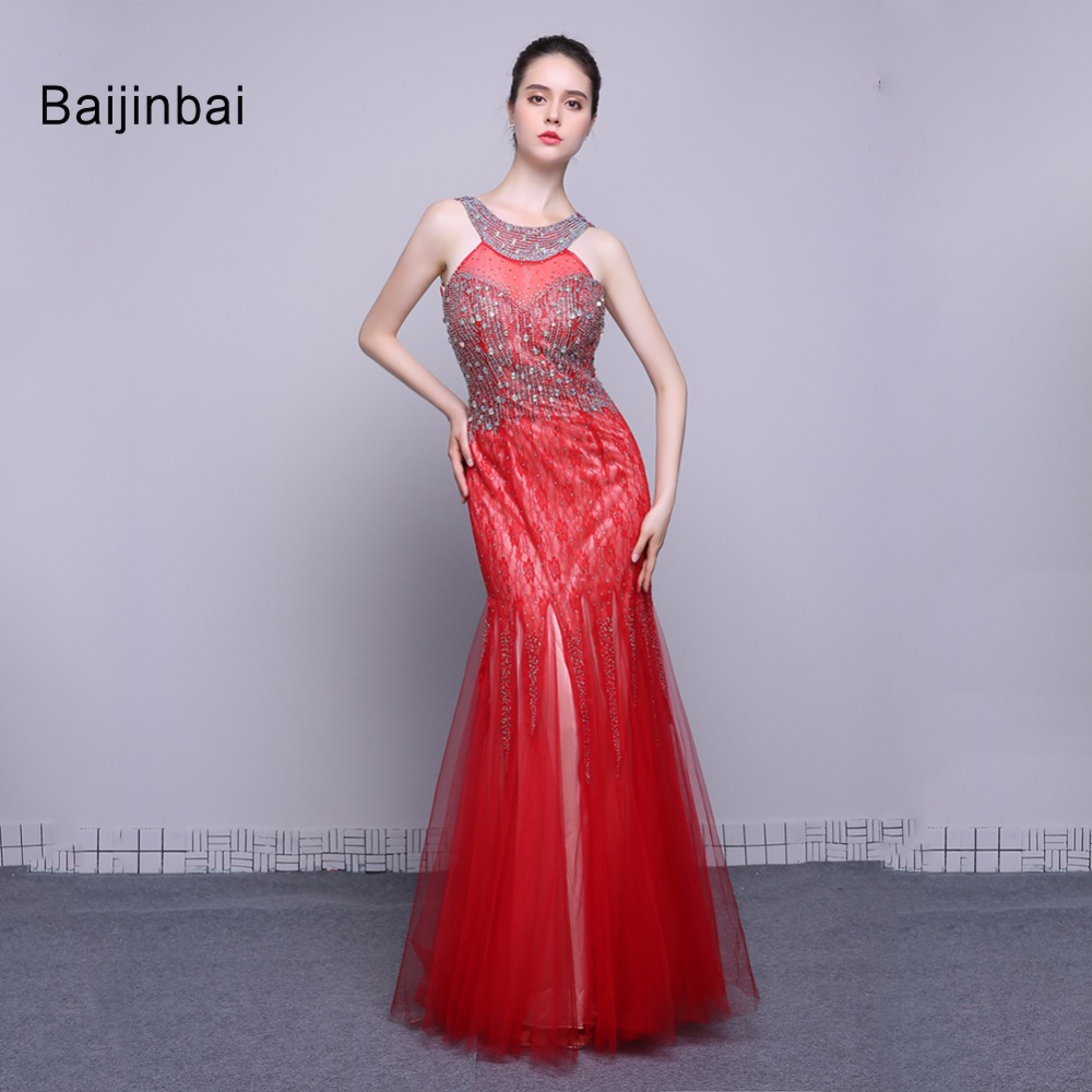 eb4eacc6c14 Long Red Elegant Evening Dress - Gomes Weine AG