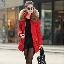 2016 Women Winter Jacket Korean Slim Down Nagy Maros Collar And Long Sections Padded Cotton Jacket Wholesale Women Plus Size