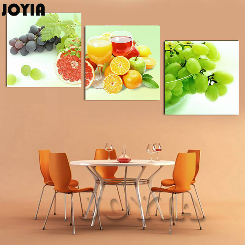 Modern Kitchen Wall Decorative Picture Grape Orange Fruit Realist ...