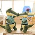 De dibujos animados Cocodrilo Verde Muñeco de Peluche de Felpa Niños Jugando Suave Cojín Creativo Regalo