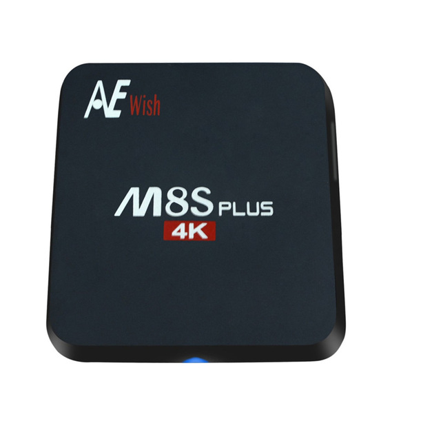 ANEWKODI m8s android tv box M8S PLUS + Quad-Core Smart TV Amlogic S905 KD 16.0 4 K 2G/16G WIFI Full HD Android 5.1 Media jugador