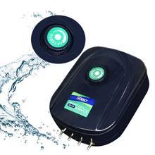 8/12w Silent Mini Aquarium Air Compressor Fish Tank Adjustable Flow Oxygen Pump Increase For 220-240V