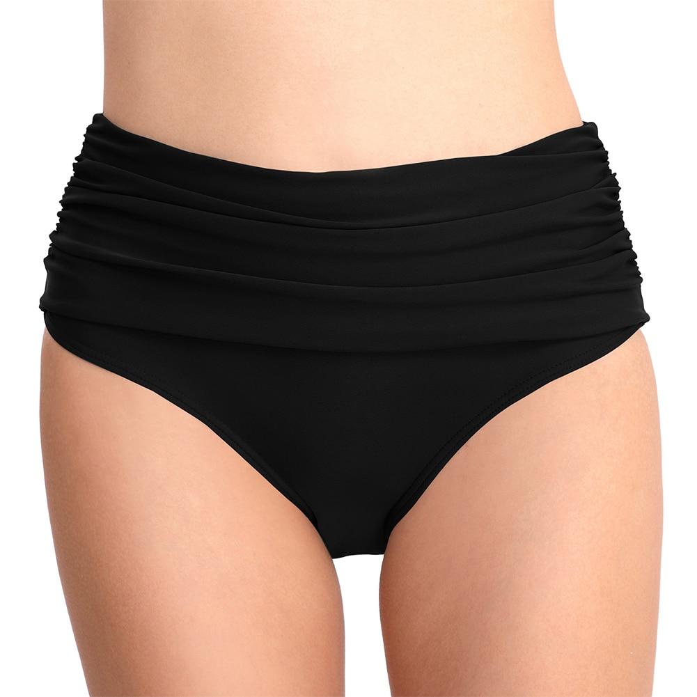 Tireless Breathable Swimwear Briefs Swimming Trunks Short Single Piece Underwear Vintage High Waist Elasticity Soft Folds Waist Surf