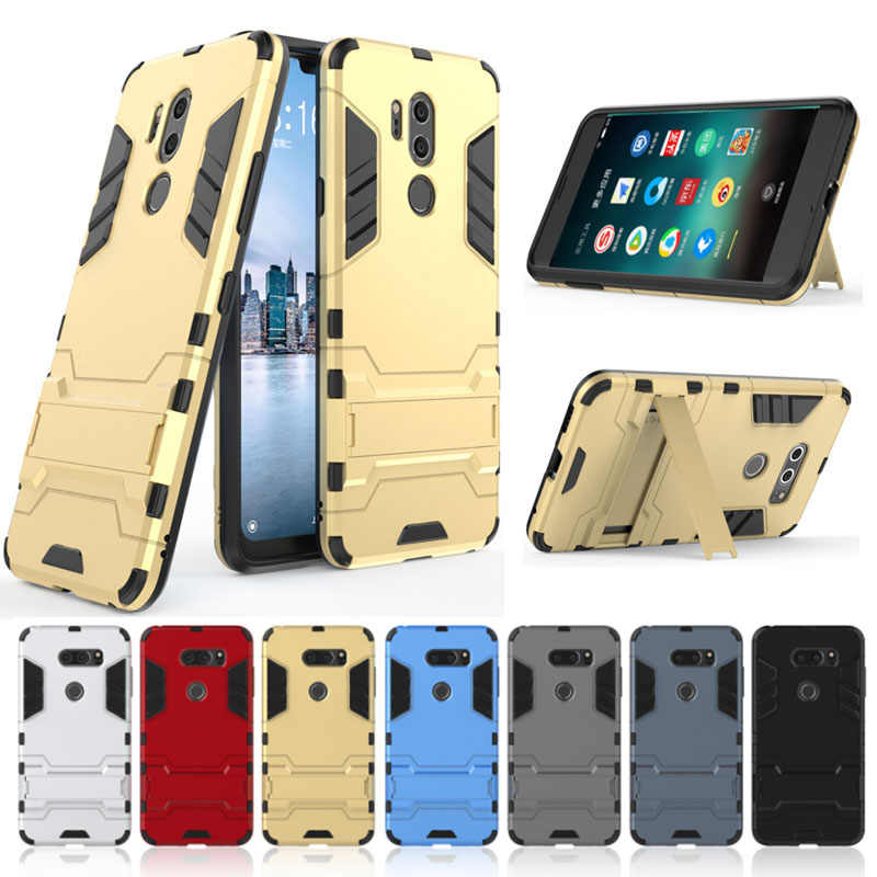 Hybrid Armor Case For LG G7 G4 G5 G6 Q6 Q8 K7 K8 K10 V10 V20 V30 V30S Stylo 3 X Power LV3 LV5 Kickstand Cover Phone Case