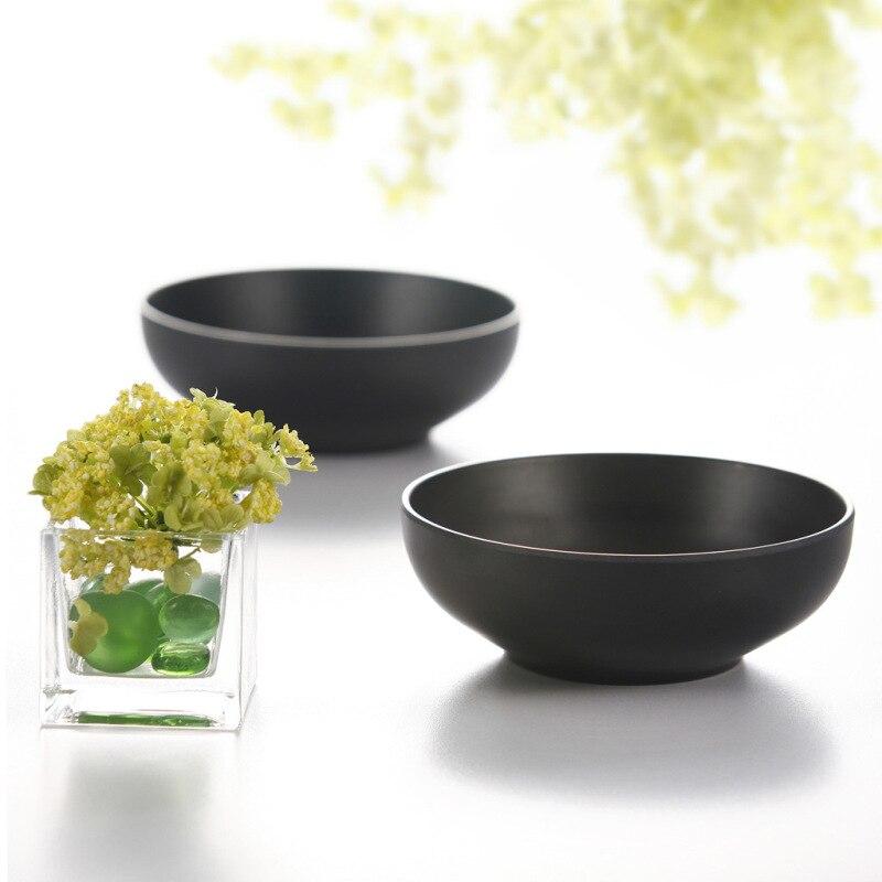 Melamin Geschirr Black Frost Bowl Lrregular Square Bowl Fashion - Küche, Essen und Bar - Foto 3
