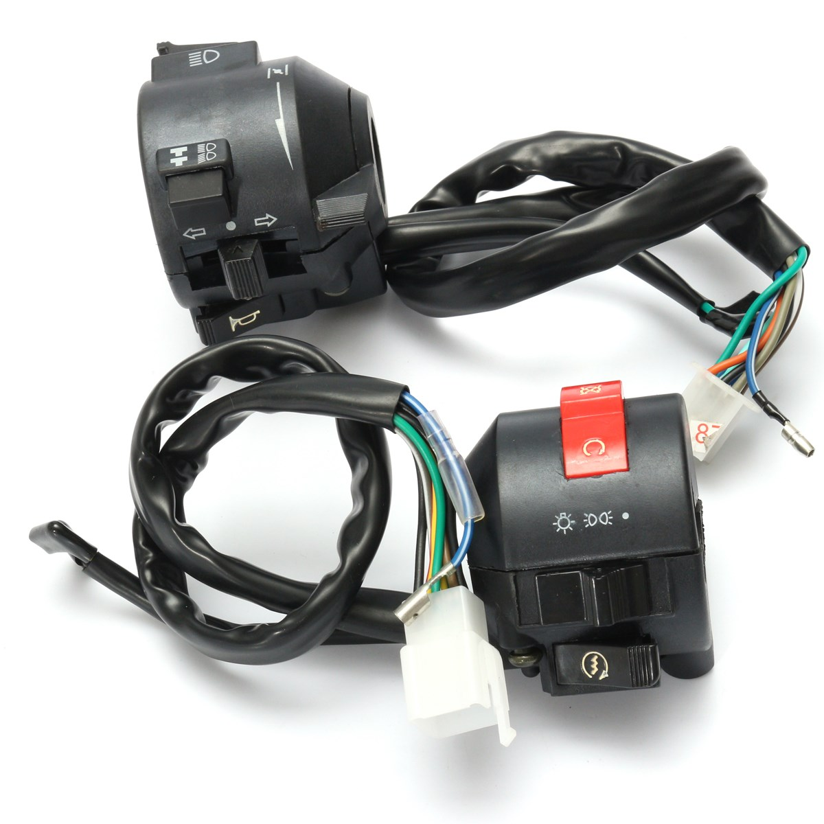 Black Motorcycle 7/8 Inch Handlebar Horn Turn Signal Switch Hi/Lo Beam Kill  Light Start Switches Left Right-in Motorcycle Switches from Automobiles ...