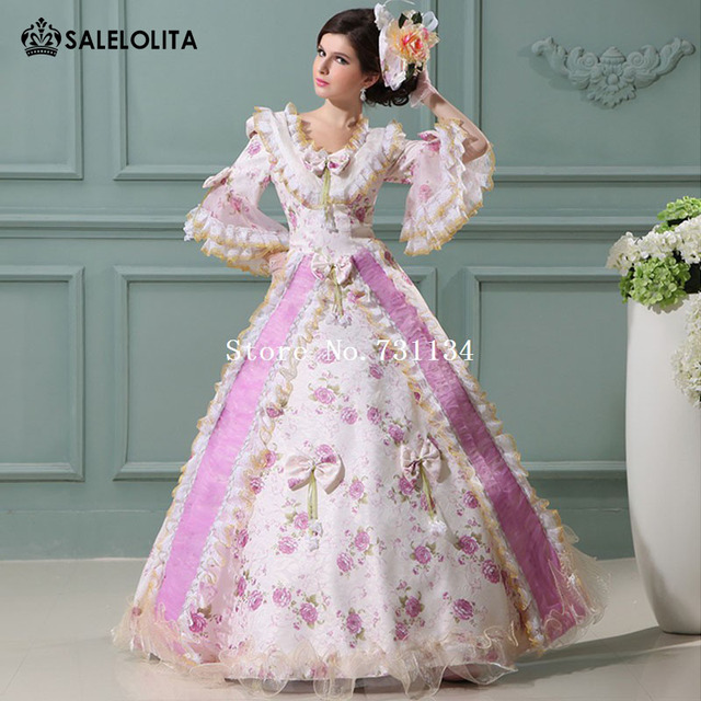 Custom Print Bow Victorian Medieval Wedding Gowns Civil War Southern ...
