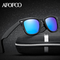 AFOFOO TR90 Classic HD Polarized Sunglasses Men Women Brand Designer Retro Driving Sun Glasses Male Female