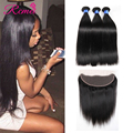 Full 13x4 Lace Frontal With Bundles Straight Brazilian Virgin Hair With Ear To Ear Lace Frontal Closure With Bundles Human Hair