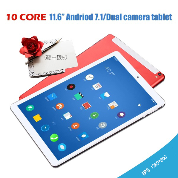 2019 Android Tablet  Andriod 7.1 Ten Core 1280*800 IPS Screen  Dual SIM 4G Phone Tablet PC WIFI RAM+16/64/128G ROM Tablet