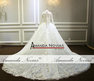 Image 2 - Amazing New Model Long Sleeve Muslim Wedding Dresses NS3374
