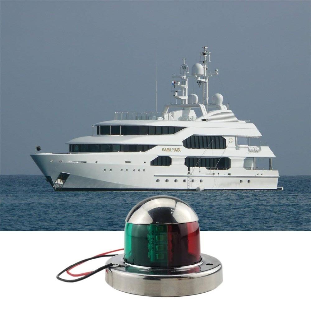 Marine Boat Yacht Bi-Color 12V Bow Navigation Light Deck Mount