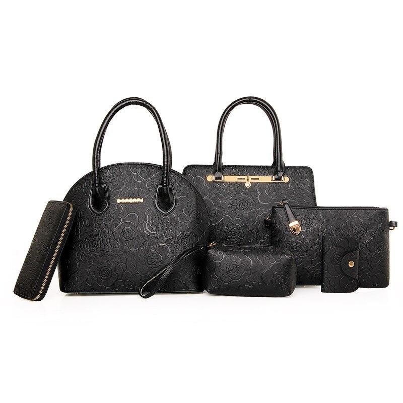6 set Handbags Brand Women Handbags Set Handbags Women Set Card Holder Wallet Sh