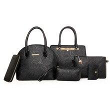 6 satz Handtaschen Marke Frauen Handtaschen Satz Handtaschen Frauen Set Kartenhalter Brieftasche Umhängetasche Tasche Taille Beutel Crossbody tasche N90