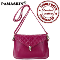 Women Crossbody Bags Premium Genuine Leather Super Quality 2017 New Arrivals Female Messernger Bags Single Plaid