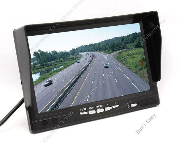 """Envío libre! HD 800*480 P 7 """"TFT LCD Monitor Anti-Sol 2ch Entrada de Vídeo Remoto para el Coche Bus"""