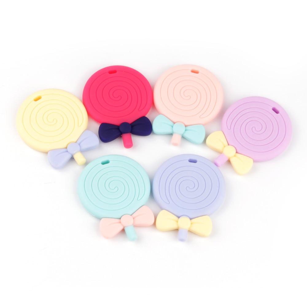 TYRY.HU 1 Stück Lollipops Shaped Silikon Baby Beißringe Bpa Frei - Säuglingspflege - Foto 2