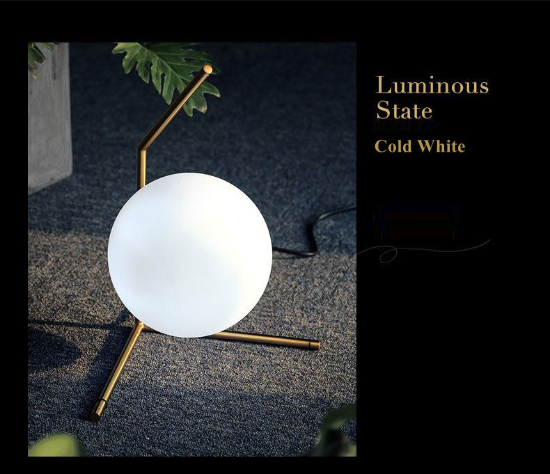 Modern LED Table Lamp Desk Lamp Light Shade Glass Ball Table Lamp Desk Light for Bedroom Living Room Floor Conner Gold Designs (22)