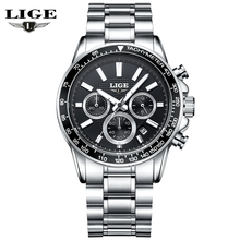 LIGE Mens Watches Top Brand Luxury Quartz Watch Hour Date Clock Fashion Casual Steel Watch Men Military Wristwatch Relogio Man цена