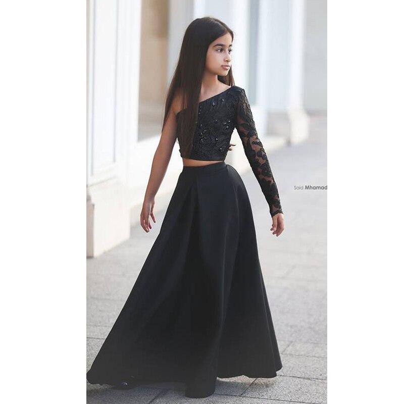 One Shoulder Black Dresses Photo Album - Reikian