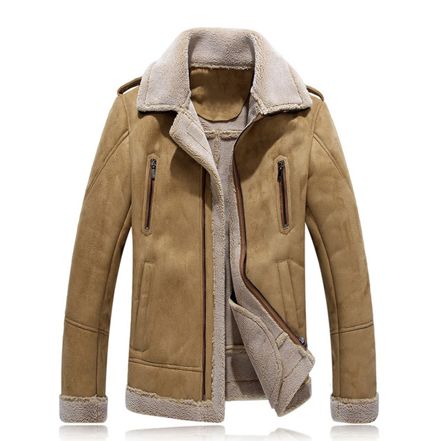 Men PU Leather Winer Jacket And Coats Thick Snow Warm Fleece Velvet Motorcycle Parkas Brand Slim Fit Casual Outerwear SL-X035