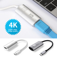 цены на High Quality USB-C 3.1 Type C To HDMI Cable Support 4k Converter Adapter Cable For Galaxy S8 HDTV Computer PC Macbook  в интернет-магазинах