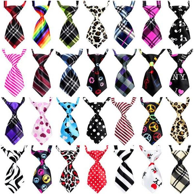 100PC Lot Cat Dog Neckties Adjustable Dog Ties Pet Dog Bow Ties Pet Grooming Supplies