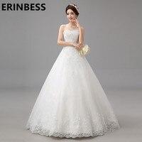 Elegant New Fashion A Line Wedding Dress 2019 Beads Strapiess Princess Wedding Dress 2018 Bridal Dress vestidos de novia W5088