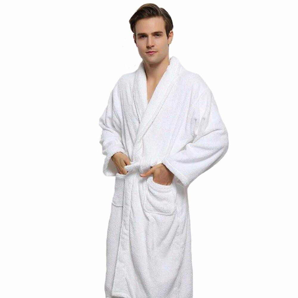 YJSFG HOUSE Long Unisex Winter Warm Dressing Gown Women And Men ...