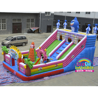 Inflatable Trampoline Inflatable Jumping House Air Castle for kids and adults