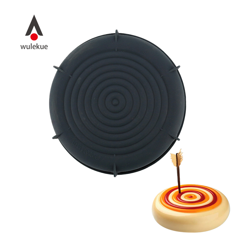 Wulekue 3D Silicone Target Mold Baking Pan For Sponge Cake Chocolate Brownie