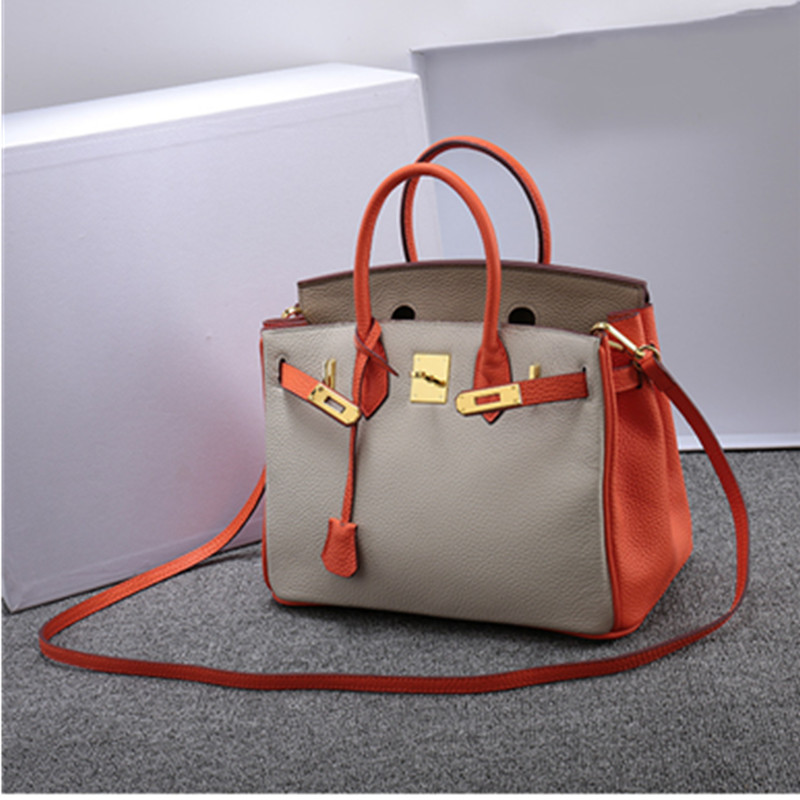 Luxury Fashion Famous Brand Designer Genuine Leather Women Handbag Bag high quality Ladies Satchel Messenger Tote Bags 2018 new women hangbag brand famous designer pu leather women handbag bag ladies satchel messenger tote bags travel luggage