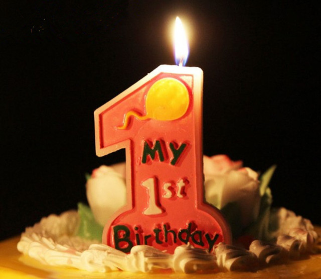 1pc 9562cm Boy Girl Number 1 One Environmental Candle Children Kids Baby First Birthday Party Cake Decoration Digital