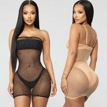 S-XL пикантные Для женщин сетка прозрачная платье Bikini Cover Up Плавание ванный комплект