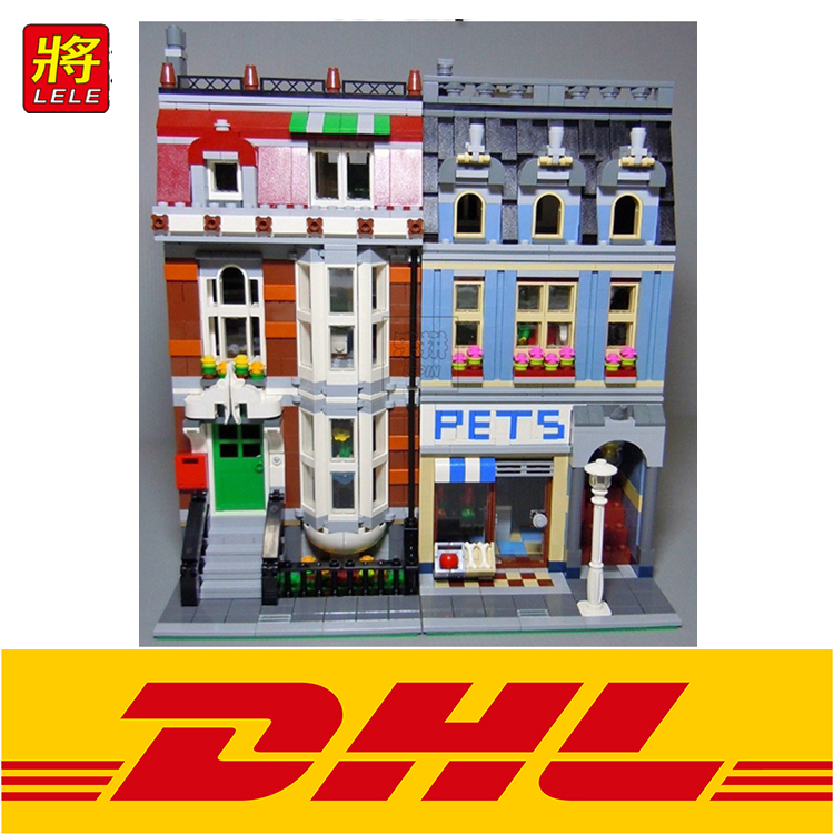 LELE 30015 2133pcs City Creator Pet Shop Supermarket Building Blocks Bricks toys for children gifts Compatible 10218 лук традиционный сила натяжения 18 кг sniper 70 quot 40lbs bearpaw 30015 150