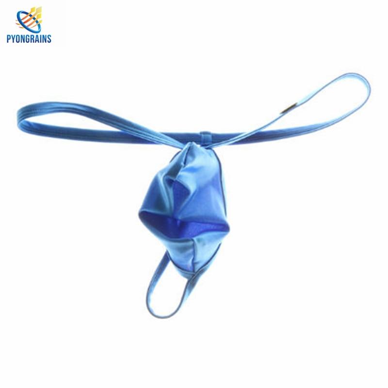 Buy Bikini 2017 Men Sexy String Homme Fashion Nylon Lingerie Underwear Mens Thongs Low-rise Solid G-string Male Thong Cueca Gay