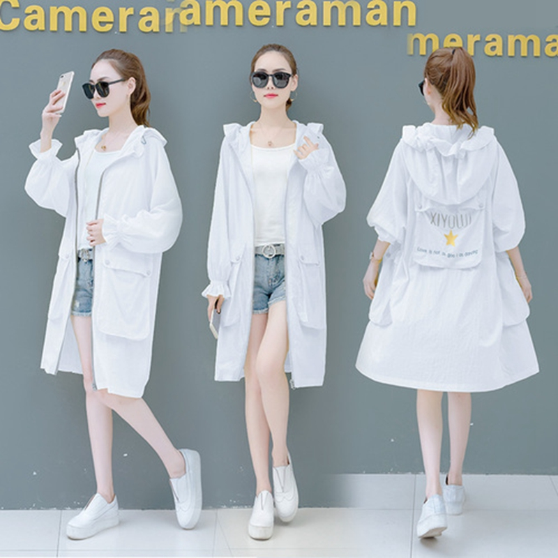 Women Jacket Two-Tone Outerwear Transparent Casual Ladies Summer Rash-Guards Half-Sleeve