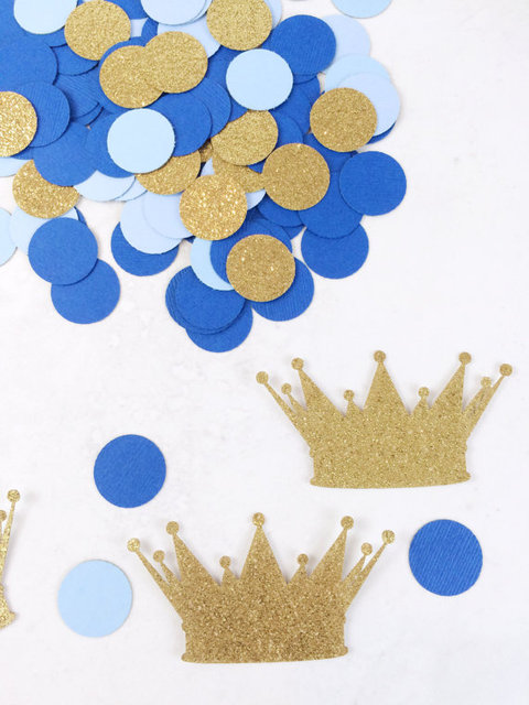 Royal Prince Baby Shower Decorations | Crown Confetti | Baby Boy | Birthday Decorations  Table Decor