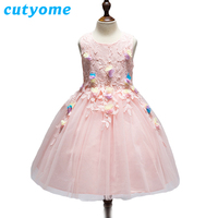 6pcs Lot Kids Beauty Pageant Dresses Children Clothes Cutyome Vintage Bow Tulle Hi Lo Baby Girls
