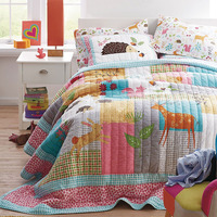 Washed Cotton Kids Bedspread Quilt Set 2pcs Coverlet Handmade Quilts Bed Covers Twin Size 173*218cm Soft Blanket