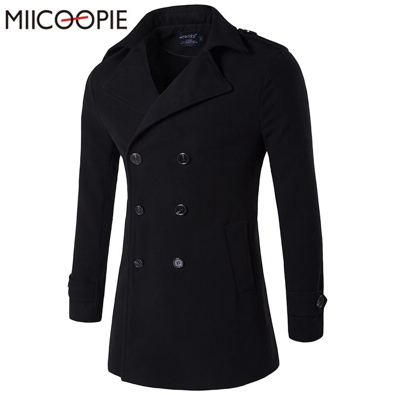 new trench coat men 2017 jacket mens overcoat slim fit long coat men fashion winter coats. Black Bedroom Furniture Sets. Home Design Ideas