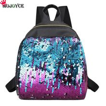 MOJOYCE Mini Women Backpack School Bags For Teenage Girls Pu Small Backpacks Female Travel Rucksack Sequins School Backpacks